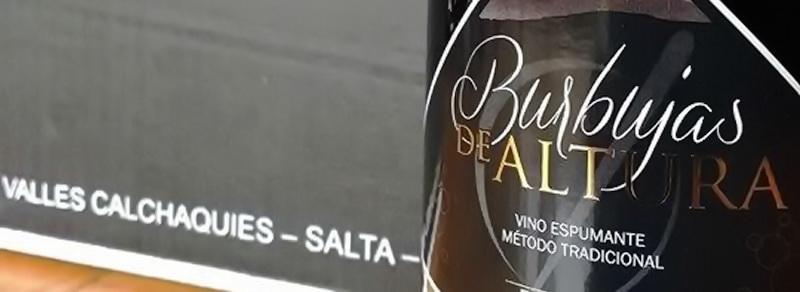 Burbujas de Altura • Vino Espumante torrontés producido en Cafayate